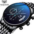 Watch Chronograph Sport Mens Watches Top Brand Luxury Waterproof Full Steel Luminous Quartz Clock Men Relogio Masculino