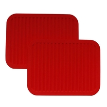 Pack of 2 Silicone table mat Supports for dishes Hot By Cooking tools Multifunction Rest dishes, Spoons