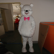 mascot White bear cartoon character costume ball