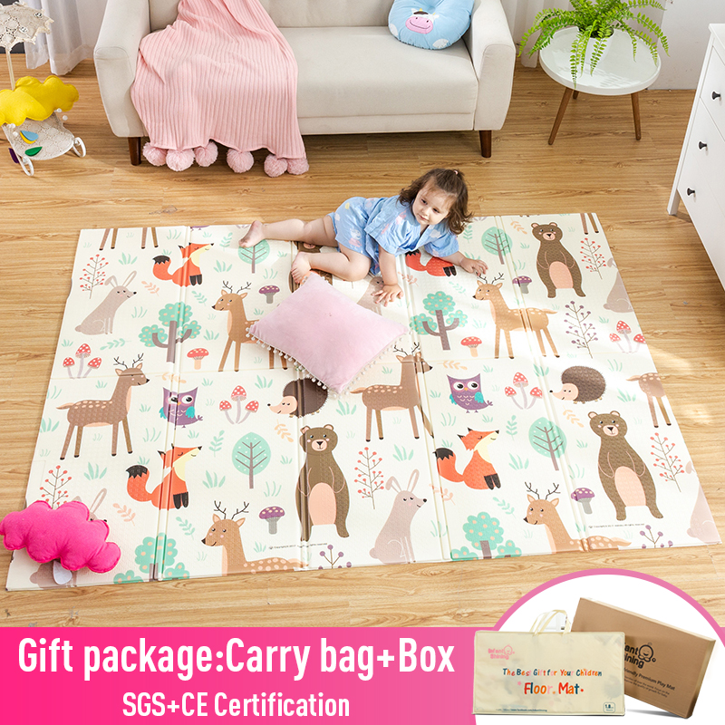 Infant Play Mat | Infant Shining Baby Play Mat Xpe Puzzle Children's Mat Thickened Tapete Infantil Baby Room Crawling Pad Folding Mat Baby Carpet