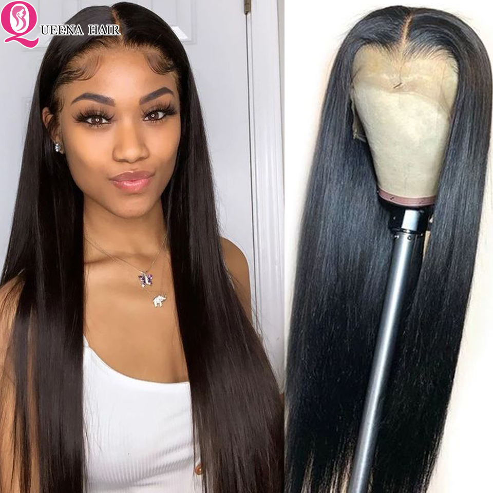 13x6 HD Lace Front Human Hair Wigs For Black Women Brazilian Straight Lace Wig Pre Plucked Remy Glueless Lace Frontal Wigs