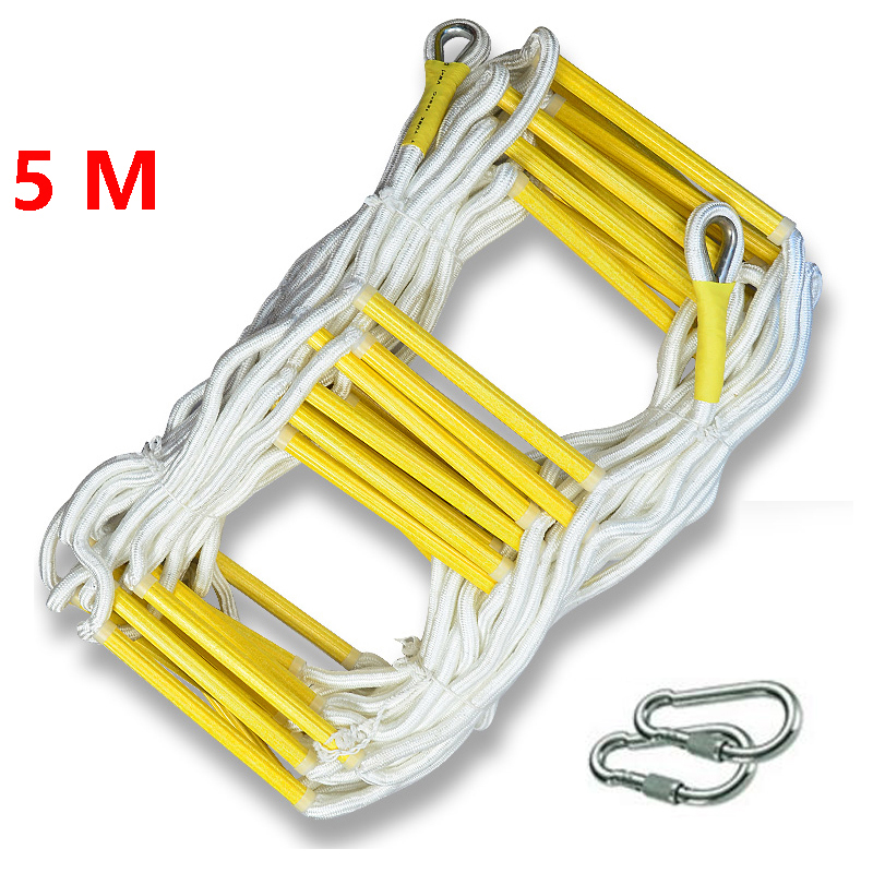 5M Rescue Rope Ladder Escape Ladder Emergency Work Safety Response Fire Rescue Climbing High-rise Building Escape Ladder