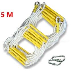 Cuerda de rescate de 5M escalera de escape escalera de emergencia respuesta de seguridad en el trabajo rescate de incendios escalada escalera de escape de edificio de altura