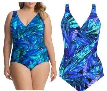 Plus Size Swimsuit Push Up Swimwear Women Bandage Bathing Suits Strappy Swimsuits Large  Monokini Badpak Female Fatkini 12
