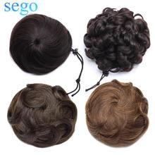 Sego 30 г 100% натуральные человеческие волосы Пончик шиньон
