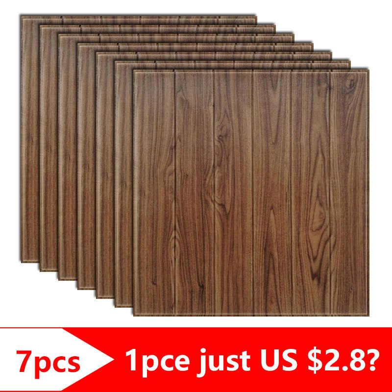 70x70cmx7pcs chambre décoration 3D stéréo mousse stickers muraux salon chambre chambre enfants chambre décorative auto-adhésif papier peint
