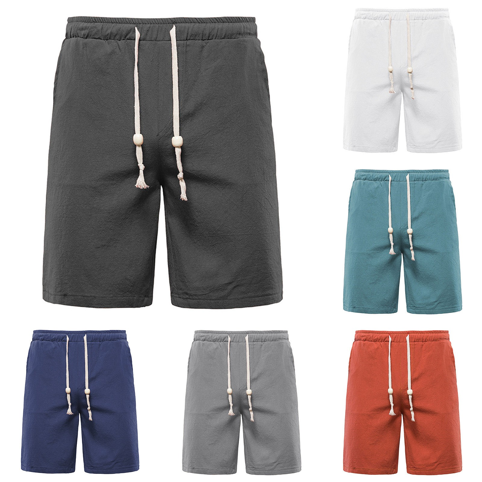 2021 Running Shorts Men Fitness Gym Training Sports Shorts Quick Dry Workout Gym Sport Jogging solid color Summer Men Shorts 1