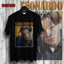 Leonardo dicaprio camisa do vintage 90 estilo superior artista retro camisa hip hop camisa estilo clássico camisa presente