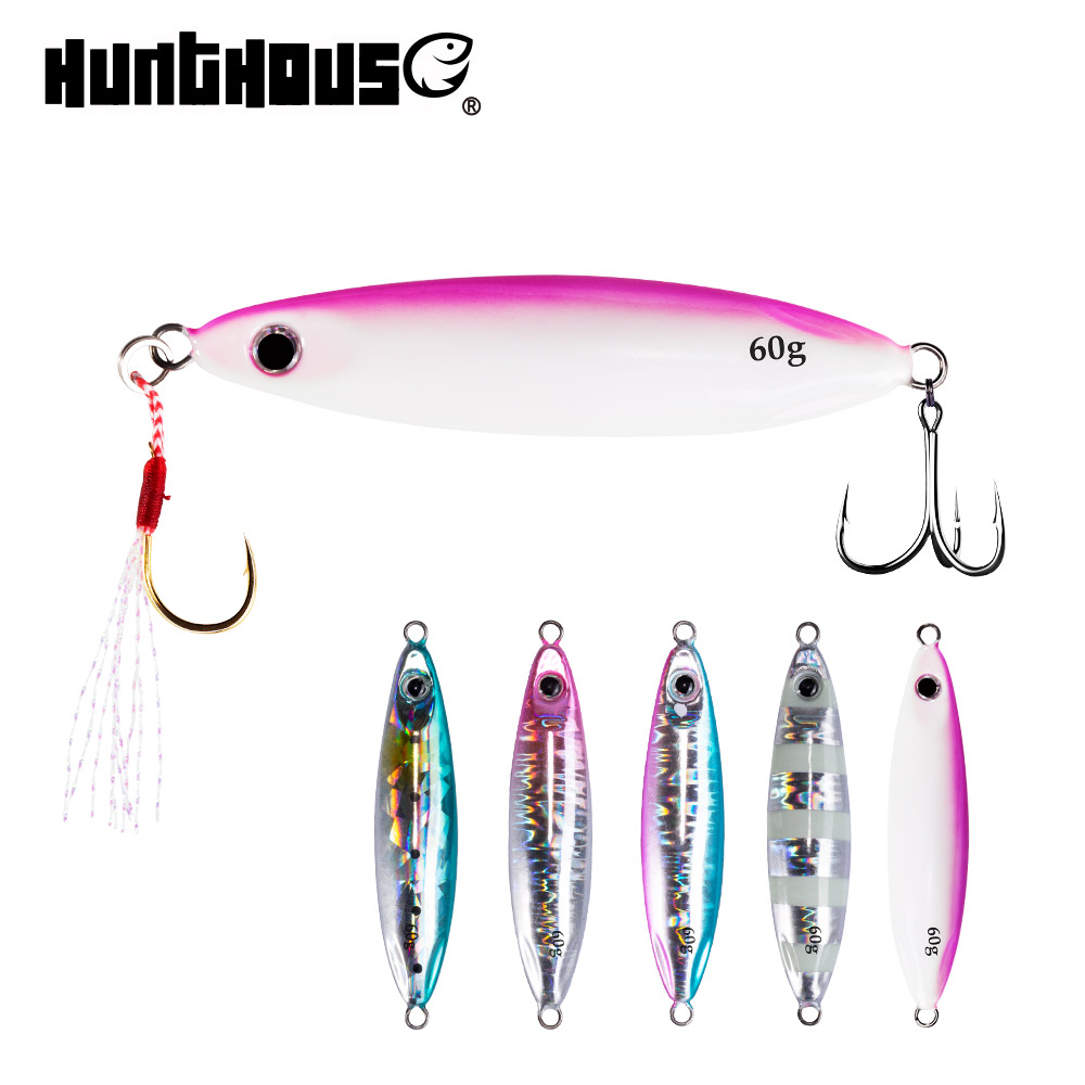 Jigging Lures Fishing Jigs Mer Seabass Slow Metal Hunthouse Zetz Saltwater 20g 30g 40g title=