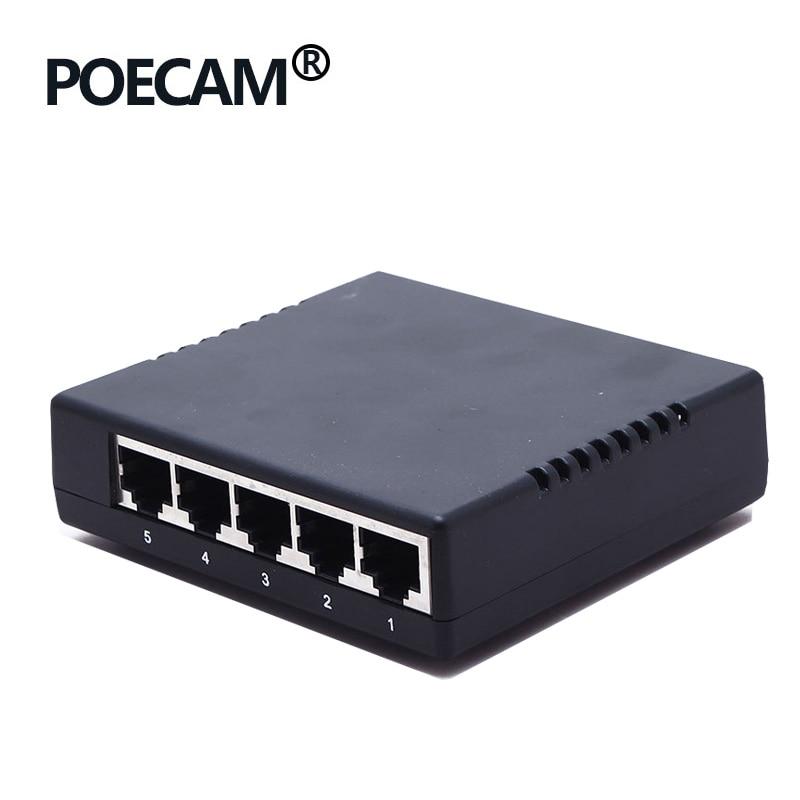 Ethernet 5port Passive POE Switch Hub 4port Powered Over By 12V 24V Power 45/+ 78/- CCTV IP Phone Capacity 1G Plastic Shell OEM