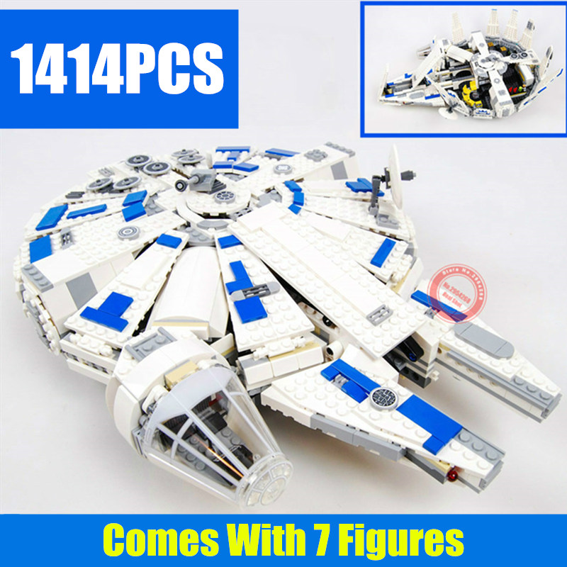 New 1414PCS StarWars Force Awakens Star Wars figures Falcon 75212 Building Blocks bricks Kids toys boy