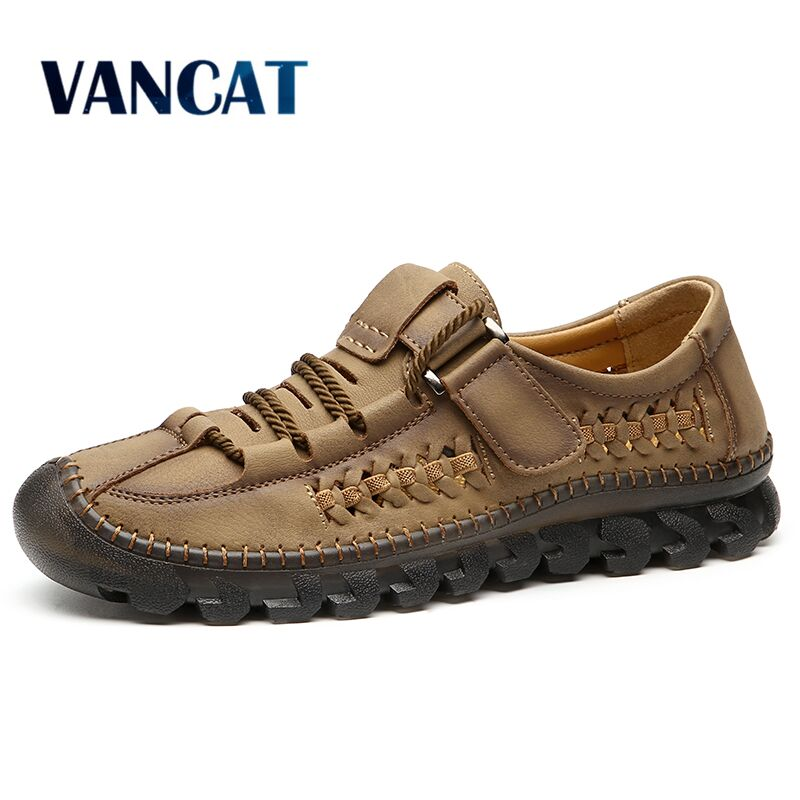Men's Casual Shoes Men Leather Loafers Flat Handmade Breathable Moccasins Designer Style Walking Shoes Comfortable Sneakers
