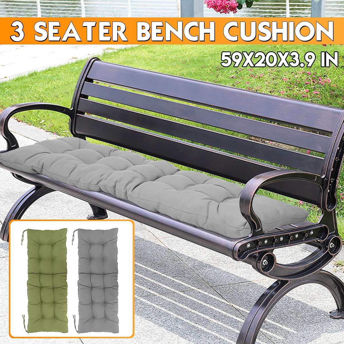 150X50X10cm Foldable Recliner Seat Cushion Furniture Patio Rocking Chairs Pad Cushions Soft Lounger Bench Seat Chair Cushion Mat