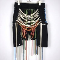 20ss Owen Seak Men Casual Harem Shorts Gothic Hot Men's Sweatpants Summer Hip Hop High Sweater Women Loose Black Shorts Size XL