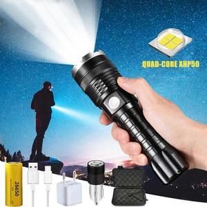 Светильник вспышки самый высокий Люмен самый мощный XHP90 дальний флэш-светильник светодиодный тактический зум 70,2 светодиодный фонарь свети...