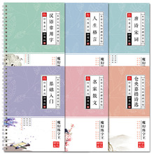 Calligraphy 6Pcs 3D Chinese Characters Reusable Groove Calligraphy Copybook Erasable pen Learn hanzi Adults Art Writing Books china s famous carving books chinese calligraphy painting seal art techniques