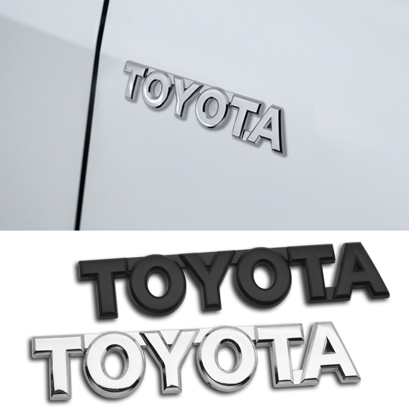 1PCS Car Styling 3D Metal Emblem Sticker Decal For Toyota Chr Corolla 2019 Auris Avensis T25 Yaris Rav4 Car Accessories