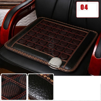 Economic and practical electric heating cushion warm jade germanium stone office chair cushion MATS heat 45*45cm