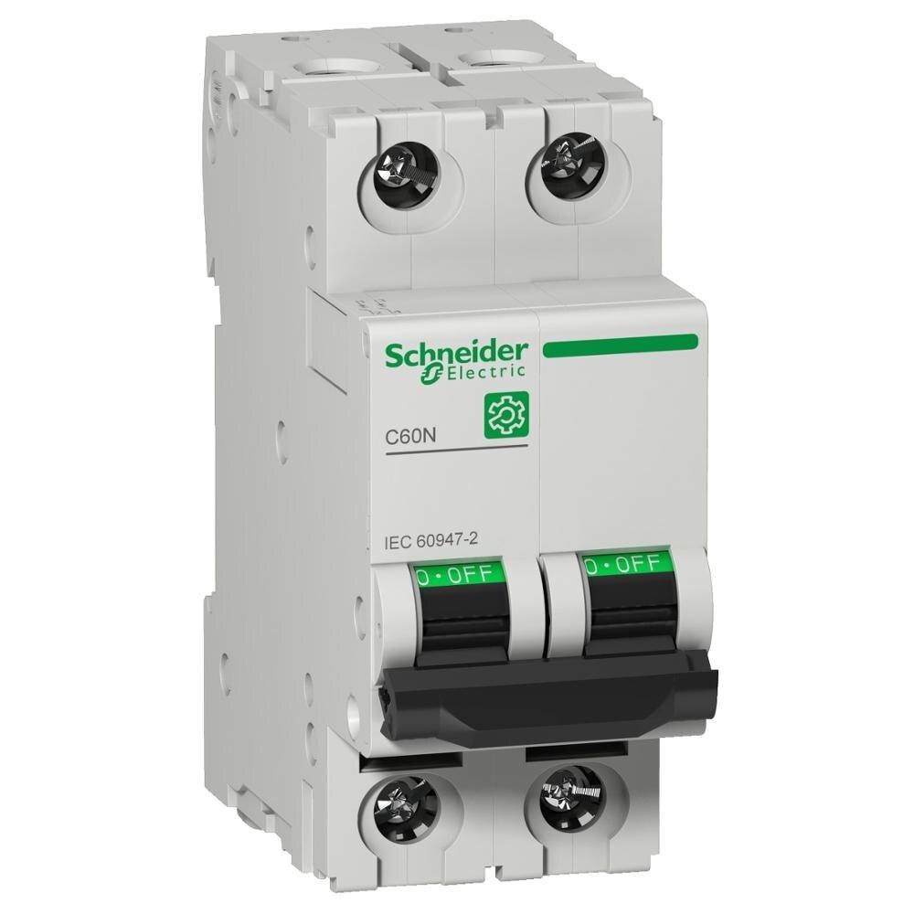 AC DC 2P miniature circuit breaker power distribution protection C60N trip b type 25A 32A 40A 50A 63A 415V 10KA 50 / 60Hz