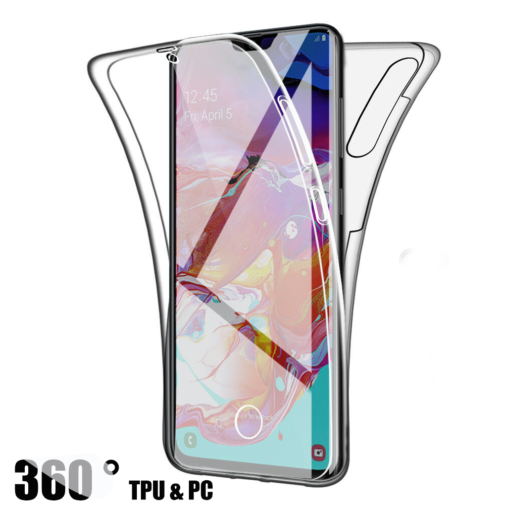 360 Full Clear Silicone Case For Samsung Galaxy S20 S10 Plus 5G S20 Ultra S10e Hard Cover For Samsung A51 A71 A40 A10 S7 S8 Case