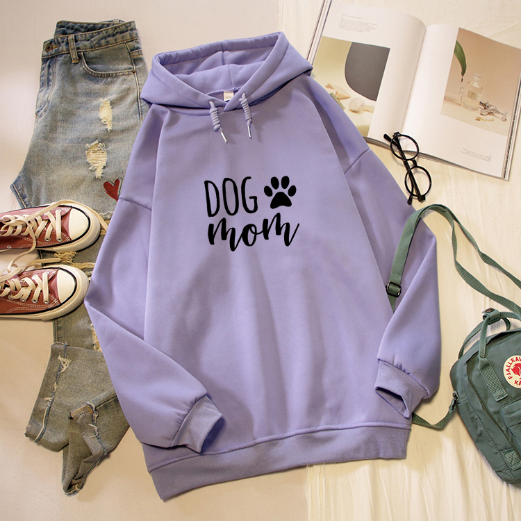 Dog Mom Letter Print Hoodies Women Korean Fashion Kawaii Graphic Sweatshirt Oversized Long Sleeve Female Pullover Streetwear Top 6