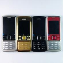 Original Nokia 6300 โทรศัพท์มือถือปลดล็อกบลูทูธกล้องภาษาอังกฤษภาษาอาหรับแป้นพิมพ์รัสเซีย