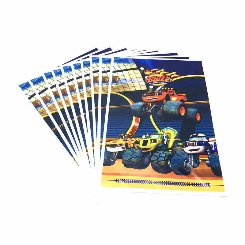 Blaze En De Monster Machines Thema Verjaardagsfeestje Decoraties Papier Cup Plaat Vlag Gift Bag Tafelkleed Wegwerp Servies
