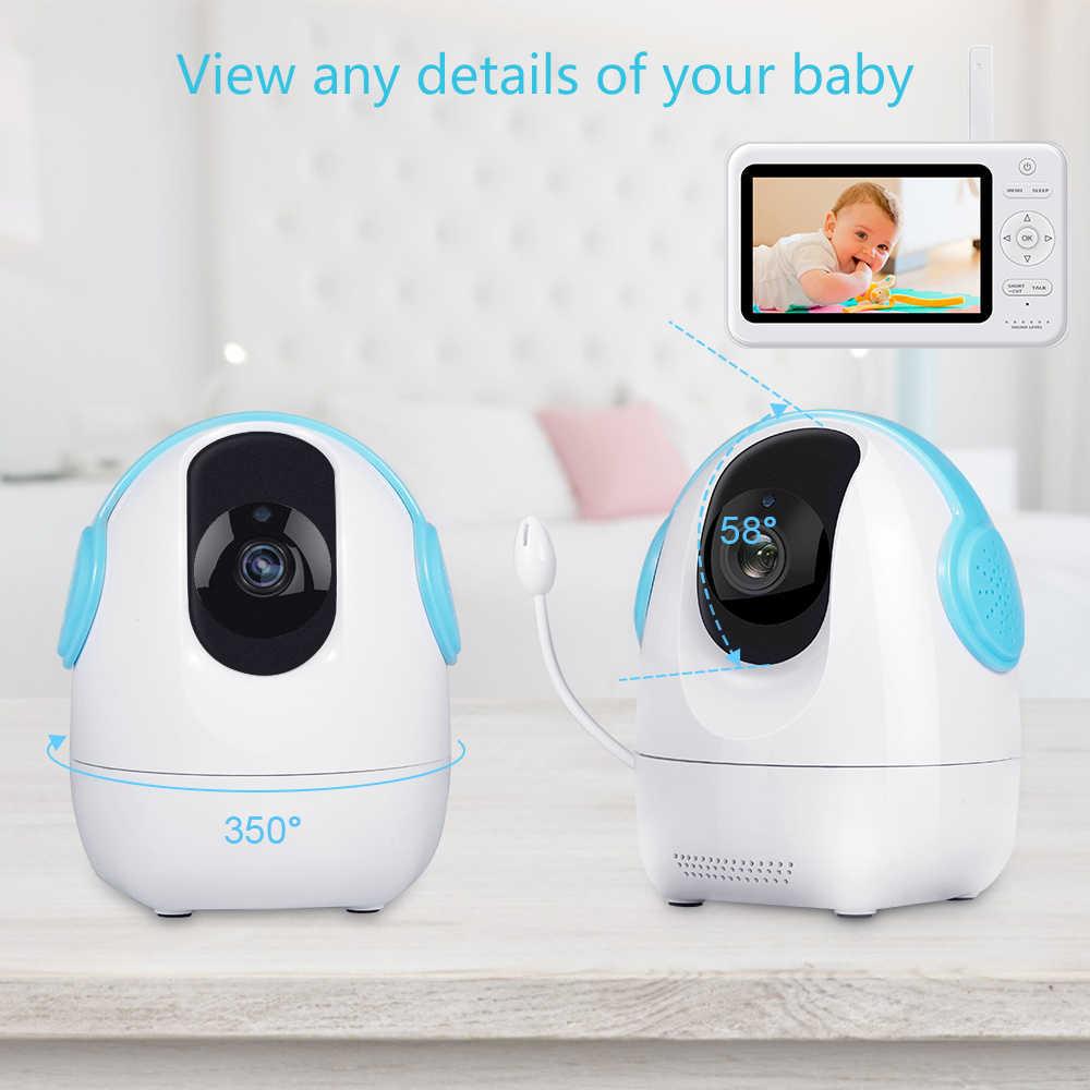 """2,4 ГГц беспроводной детский монитор с 5 """"720 P ЖК-экраном 1280*720P камера детский монитор двухсторонний аудио пульт дистанционного управления EU Plug"""