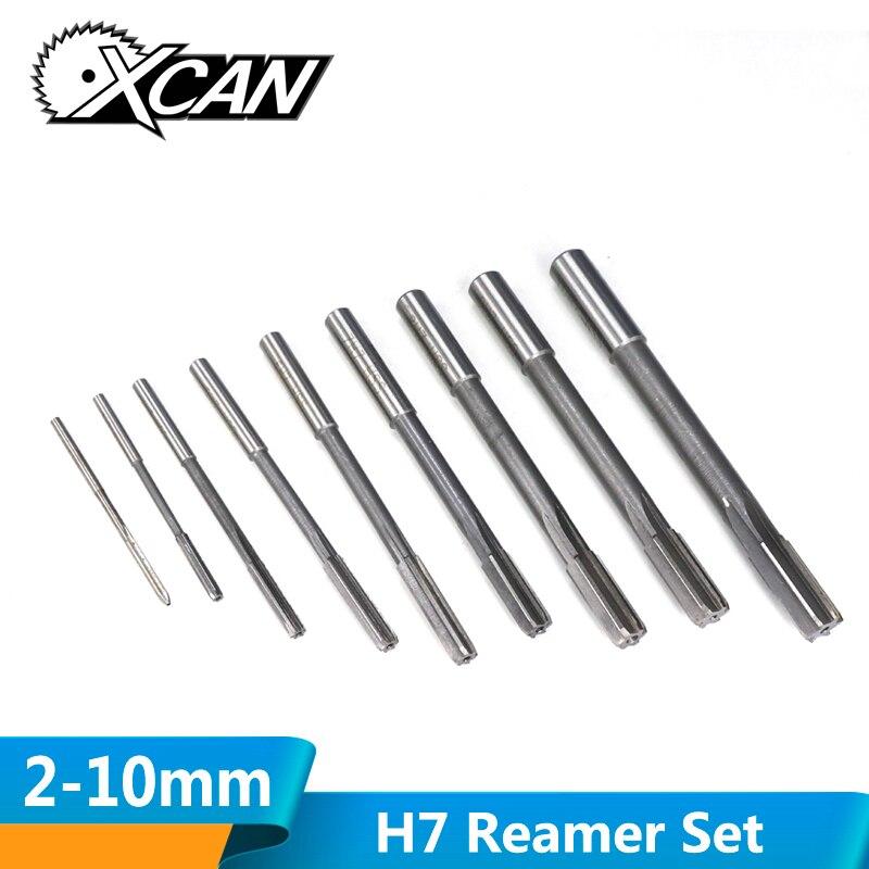 2.0-12mm HSS H7 Machine Reamer Set Straight Shank Milling Reamers Set Chucking Machine Cutter Tool
