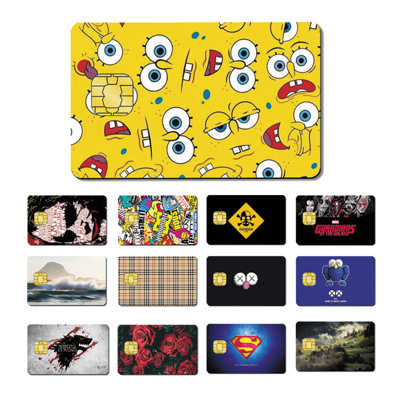 Magic Shark PVC 5 Years No Fade High Quality Superman SpongeBob Joker Dollar Star War Credit Card Sticker Film Skin 008-039