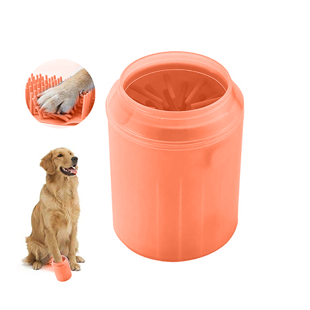 <font><b>Dog</b></font> <font><b>Paw</b></font> <font><b>Cleaner</b></font> Cup Soft Silicone Combs Pet Foot Washer Cup <font><b>Paw</b></font> Clean Brush Quickly Wash Dirty Cat Foot Cleaning Bucket image