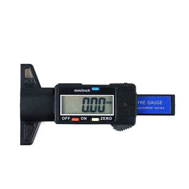 Hohe qualität Digital Reifen Lauffläche Tiefe Gauge Meter Vermesser für Autos Lkw und SUV, 0 25,4mm