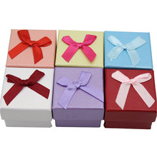 Delicate Jewelry Ring Earring Necklace Gift Display Package Cardboard Cute Case Box Jewelry Packaging Necklace Box 5.2*5.2CM(China)