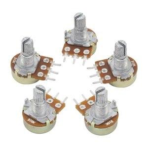 10 шт. резистор потенциометра 1 к 2 к 5 к 10 к 20 к 50 к 100 к 500 к 1 м ом Линейный потенциометр 20 мм/15 мм 3Pin Потенциометр ручка колпачок