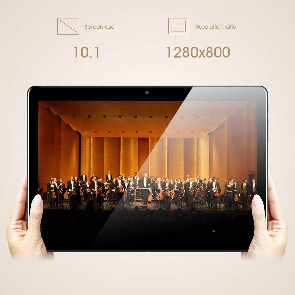تابلت 10 بوصة الأحدث 2020 أندرويد 9.0 ثماني النواة 6GB + 128G ROM 2.5D زجاج 1280X800 IPS واي فاي نظام تحديد المواقع Netflix يوتيوب ميديا باد 10 10.1
