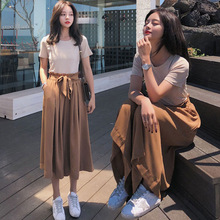 2020 Two Piece Set Women Tops And Long Pants Suit Female Out