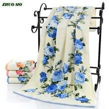 Роскошные женские полотенца zhuo mo для душа из хлопка с пионами