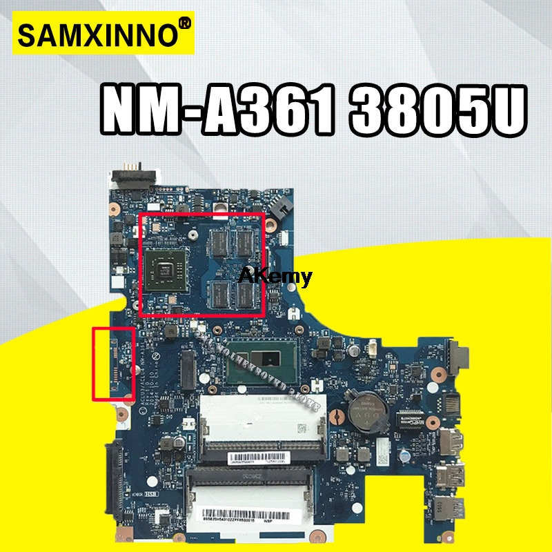 ACLU3/ACLU4 NM A361 motherboard for Lenovo G50 80 G50 80M notebook motherboard CPU 3805U R5 M330 DDR3 100% test