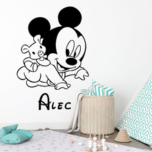 Cartoon Disney Mickey Mouse Vinyl Wall Stickers For Home Decor Living Room Nursery Kids Room Decoration Mural Wall Art Decals комод мо рост комод сибирь