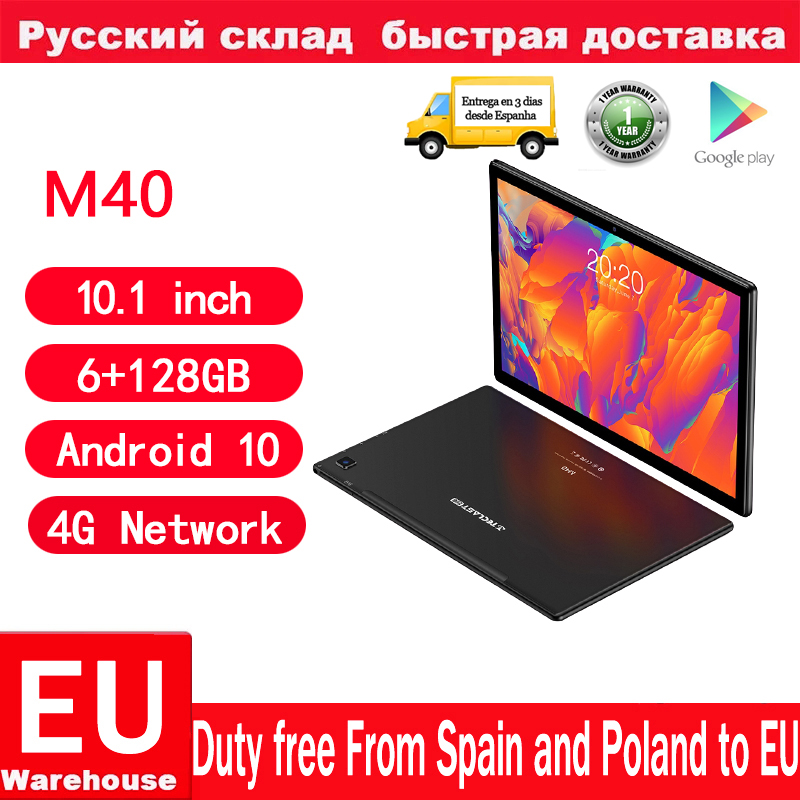 Teclast M40 Android 10 Tablets 4G Network 10.1inch T618 Octa Core Dual Phone Call 1920x1200 6GB RAM 128GB ROM Tablet PC