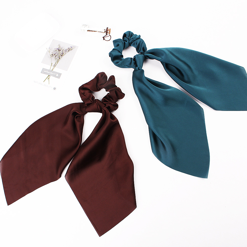 Heaf7f1828d2b4a5da9625bce9bdb4dfd2 - Fashion Silk Satin Summer Ponytail Scarf Stripe Flower Print Ribbon Hairbands Hair Scrunchies Vintage Girls Hair Accessoires