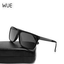 2019 New Polarized Sunglasses Men Mirrored Driving Glasses Black Rectan