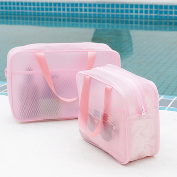 цена на Partable Waterproof Bath Storage Bag Cosmetic Bag Travel Makeup Case Ladies Make Up Organizer Storage Pouch Toiletry Women Wash