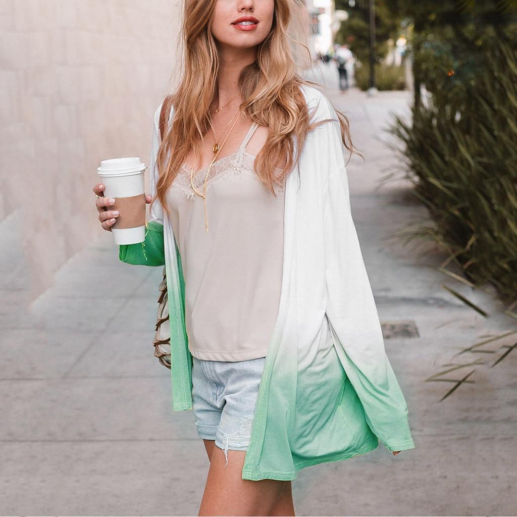 2020 Autumn Women Cardigan Sweater Long Sleeve Loose Coats Patchwork Casual Outwear Streetwear Long Knitted Cardigan Sweaters#G3