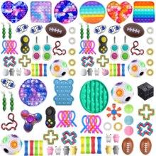 Dropshipping brinquedos fidget 20/23/27/32 pces pacote sensorial brinquedo conjunto anti stress alívio autismo ansiedade anti bolha de estresse para crianças adultos