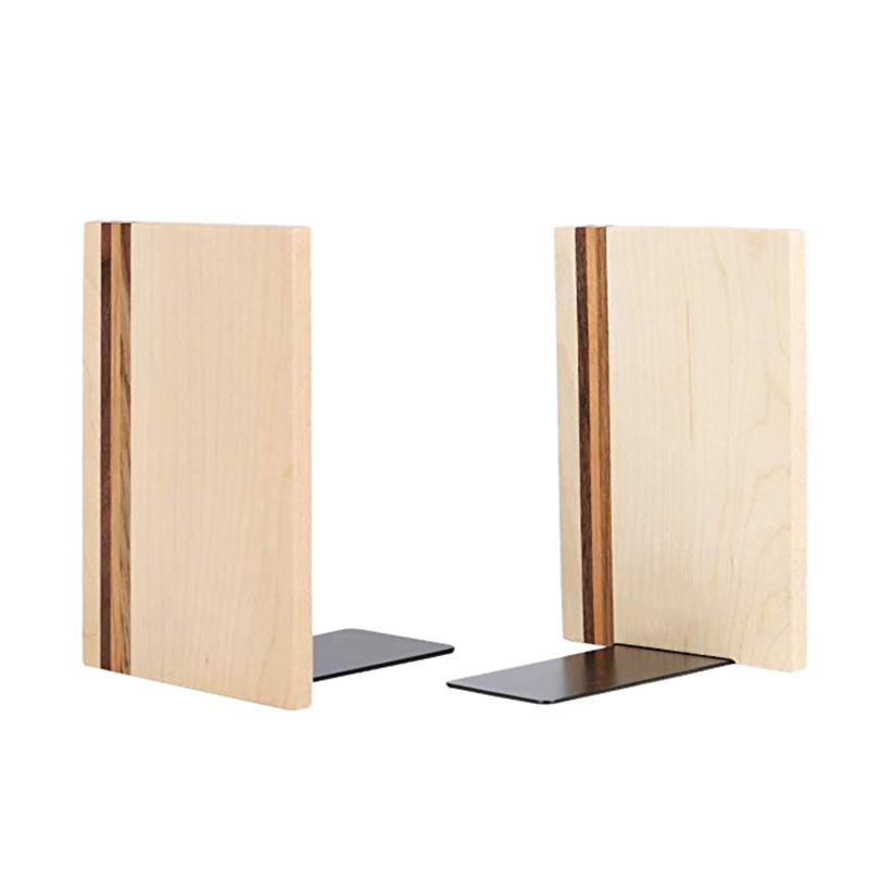 Wooden Maple Artist Bookends Decorative Book Ends