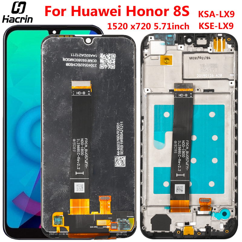 Display For Huawei Honor 8S LCD Display Touch Screen With Frame Digitizer Assembly Replacement Display For Honor 8S 8 S Screen