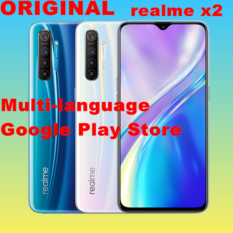 Stock new realme X2 Moblie Phone 6G 128G Snapdragon 730G 64MP Camera 6.4'' Full Screen NFC Cellphone VOOC 30W Fast Charger Cellphones  - AliExpress