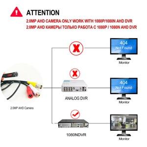 Image 5 - 1080P מיני AHD אבטחת מצלמה עם 8PCS 940nm IR נוריות ראיית לילה מקורה CCTV וידאו אודיו מצלמה עבור HD AHD DVR מערכת