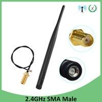 אנטנה עבור 2.4G 2.4GHz wifi אנטנה 5dBi SMA מחבר זכר עבור נתב Wi Fi Booster + 21cm RP-SMA ל- ufl./ IPX 1.13 בכבלים צמה (3)